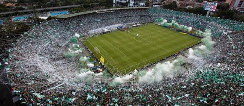 Football match, estadio in Medellin